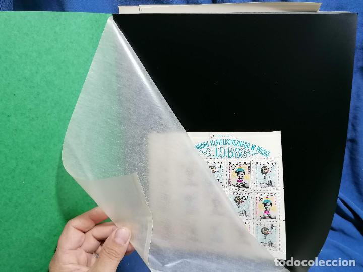 Sellos: Album hojas sellos Resto Coleccion Lote 4200 sellos mundiales en Hojas Pliego Mundial - Foto 24 - 241085420