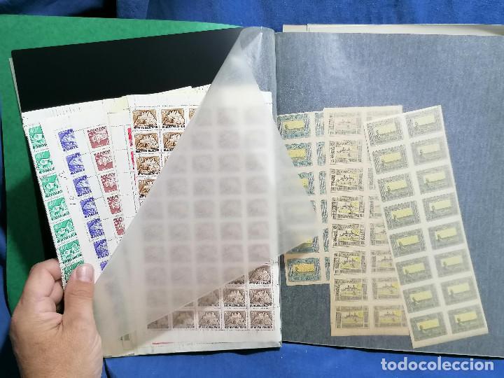 Sellos: Album hojas sellos Resto Coleccion Lote 4200 sellos mundiales en Hojas Pliego Mundial - Foto 25 - 241085420