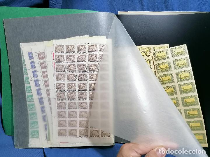Sellos: Album hojas sellos Resto Coleccion Lote 4200 sellos mundiales en Hojas Pliego Mundial - Foto 26 - 241085420