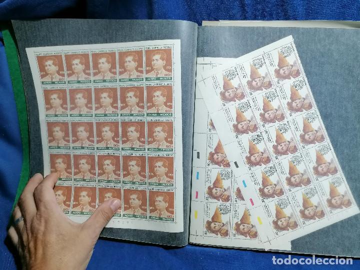 Sellos: Album hojas sellos Resto Coleccion Lote 4200 sellos mundiales en Hojas Pliego Mundial - Foto 27 - 241085420