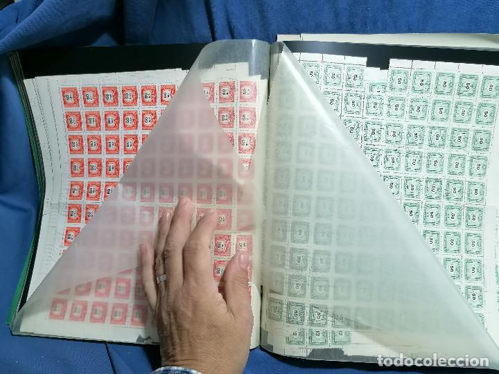 Sellos: Album hojas sellos Resto Coleccion Lote 4200 sellos mundiales en Hojas Pliego Mundial - Foto 31 - 241085420