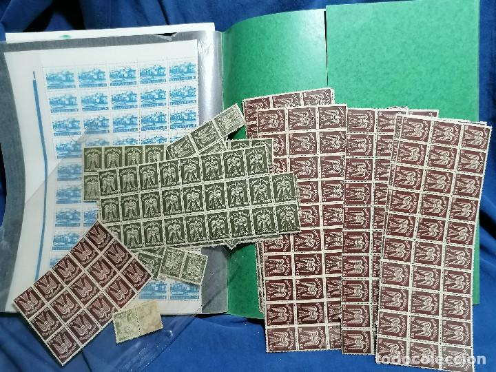 Sellos: Album hojas sellos Resto Coleccion Lote 4200 sellos mundiales en Hojas Pliego Mundial - Foto 39 - 241085420