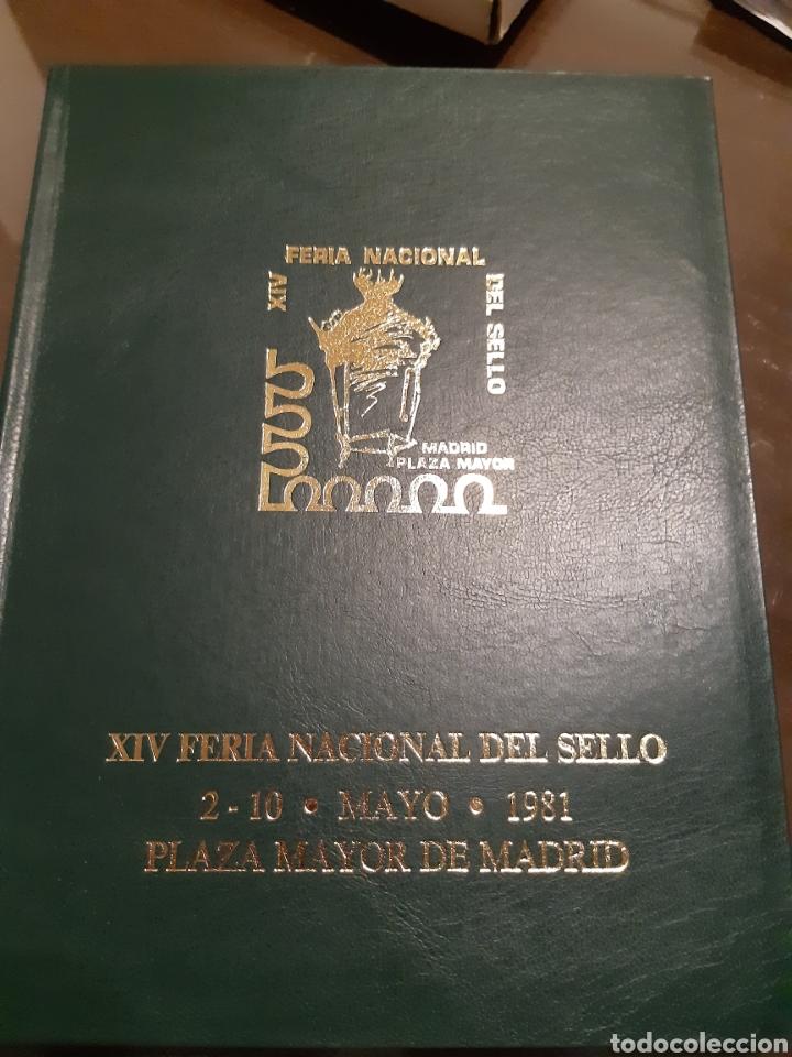 ÁLBUM OFICIAL XIV FERIA NACIONAL DEL SELLO AÑO 1981 EDICIÓN 500 EJEMPLARES ESTE Nº 210 (Sellos - Colecciones y Lotes de Conjunto)