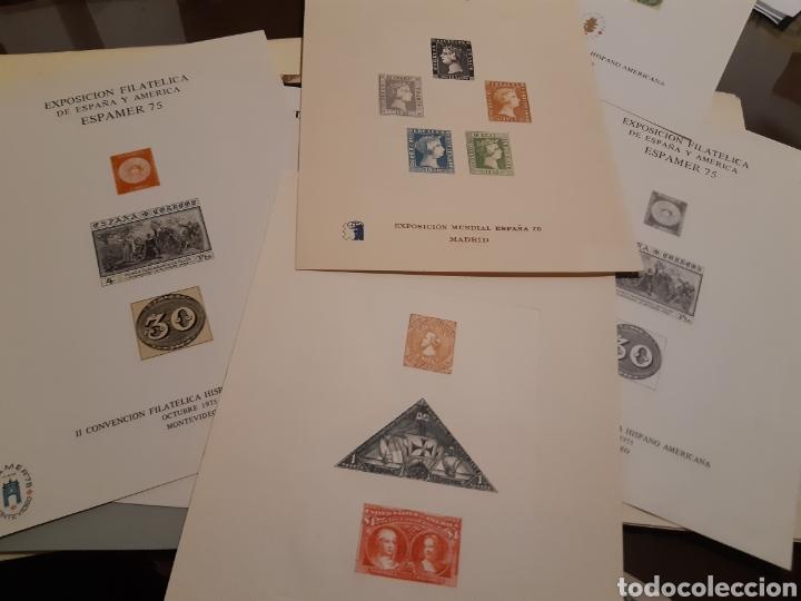 Sellos: 21 HOJAS RECUERDO EXPOSICIONES FILATÉLICAS ESPAÑA 75 ETC....VER FOTOS - Foto 2 - 243686705