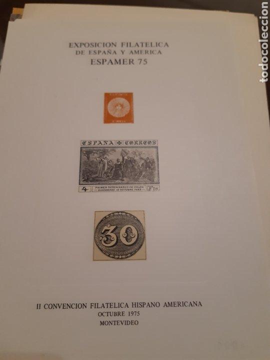Sellos: 21 HOJAS RECUERDO EXPOSICIONES FILATÉLICAS ESPAÑA 75 ETC....VER FOTOS - Foto 3 - 243686705