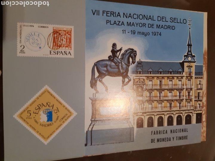 Sellos: 21 HOJAS RECUERDO EXPOSICIONES FILATÉLICAS ESPAÑA 75 ETC....VER FOTOS - Foto 10 - 243686705