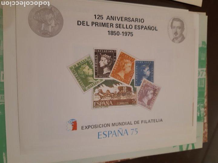 Sellos: 21 HOJAS RECUERDO EXPOSICIONES FILATÉLICAS ESPAÑA 75 ETC....VER FOTOS - Foto 17 - 243686705