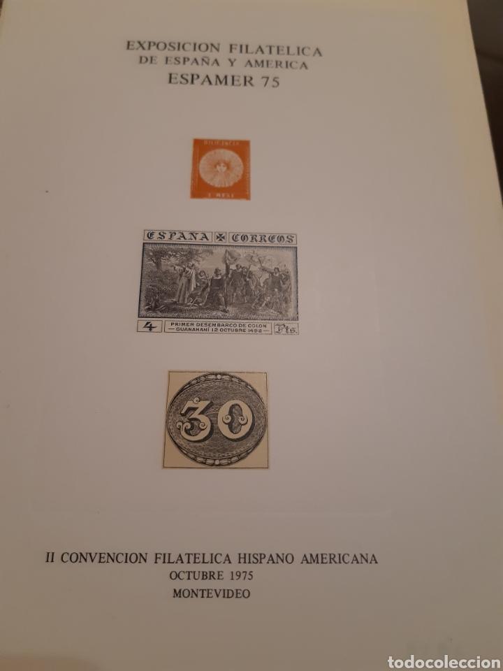 Sellos: 21 HOJAS RECUERDO EXPOSICIONES FILATÉLICAS ESPAÑA 75 ETC....VER FOTOS - Foto 22 - 243686705