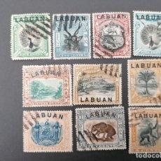 Francobolli: LABUAN, LOTE 10 SELLOS. Lote 244694365