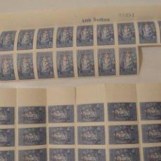 Sellos: LOTE DE 114 - COLEGIO DE HUÉRFANOS DE NTRA SRA DEL PILAR - 1 PTA HABILITADO 5 CTS - NUEVOS. Lote 248632970