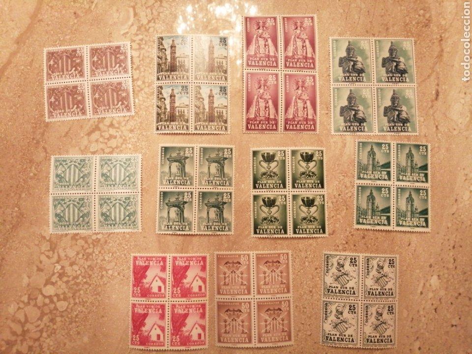 4 SERIES PLAN SUR DE VALENCIA NUEVAS (Sellos - Colecciones y Lotes de Conjunto)