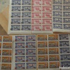 Selos: LOTE SELLOS MNH 7BLOQUES DE 10 , EDICIONES LOCALES ESPAÑA HABILITADO 267. Lote 260329835