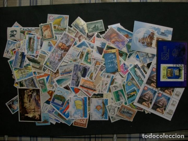 /02.05/-LIQUIDACION-BARCOS/1/-500 DIFERENTES EN USADO/º/ & NUEVO(**MNH) (Sellos - Colecciones y Lotes de Conjunto)