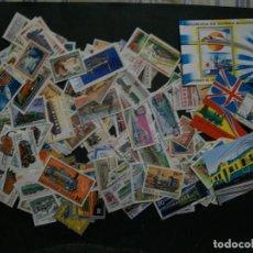 Francobolli: /02.05/-LIQUIDACION-TRENES Y TRANVIAS-500 DIFERENTES EN USADO/º/ & NUEVO(**MNH). Lote 260569325