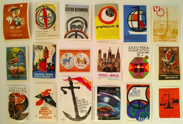 LOTE VIÑETAS CONMEMORATIVAS (Sellos - Colecciones y Lotes de Conjunto)
