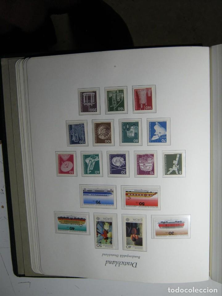 ALEMANIA ÁLBUM BOREK SELLOS 1960-1976 MNH** EN HOJAS MONTADAS PROTECTORES TRANSPARENTES DE LUJO!!! (Sellos - Colecciones y Lotes de Conjunto)