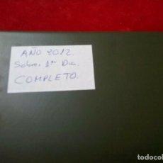 Sellos: COLECCION SOBRES 1º DIA AÑO 2012 COMPLETO MONTADA EN CLASIFICADOR. Lote 261544435