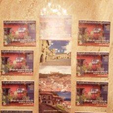 Francobolli: 9 CARNETS DE 4 SELLOS ADHESIVOS TARIFA A CADA UNO. Lote 261918220