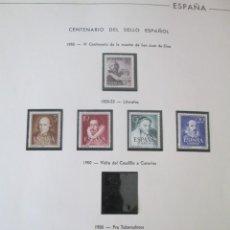 Sellos: ER * ESPAÑA * ALBUM DE SELLOS DEL SEGUNDO CENTENARIO. Lote 261963750