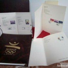 Sellos: LOTE DE BARCELONA 92 ALBUM CERTIFICADO MAS LAMINAS DE LUJO,EDICION LIMITADA. Lote 262061015
