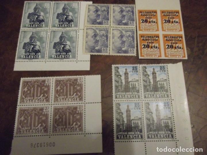 LOTE 5 SELLOS MNH , EN BLOQUES DE CUATRO (Sellos - Colecciones y Lotes de Conjunto)