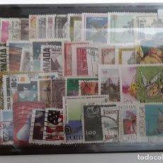 Selos: LOTE 50 SELLOS MUNDIALES DIFERENTES USADOS. Lote 263296300