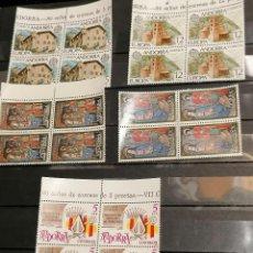 Selos: ANDORRA ESPAÑA AÑO 1978 COMPLETO LOTE DE 4 AÑOS NUEVO PERFECTO BLOQUE DE 4. Lote 266969349