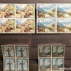 Selos: ANDORRA ESPAÑA AÑO 1977 COMPLETO LOTE DE 4 AÑOS NUEVO PERFECTO BLOQUE DE 4. Lote 266969679