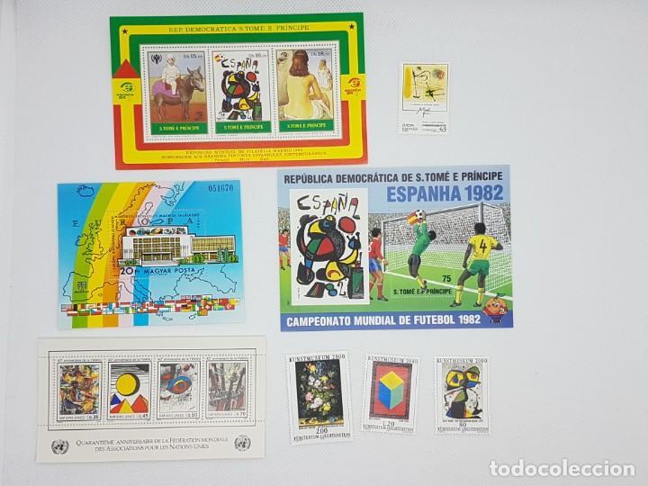COLECCIÓN SELLOS JOAN MIRÓ A37 (Sellos - Colecciones y Lotes de Conjunto)