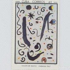Sellos: SELLO JOAN MIRÓ HABANA 1967. Lote 267515619