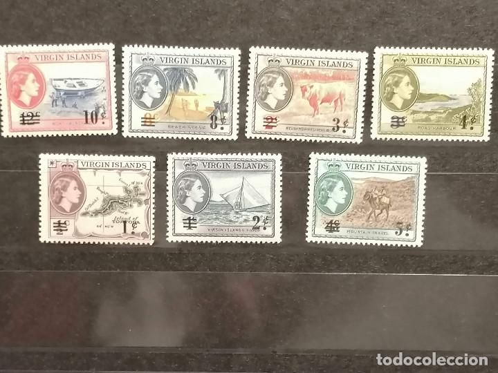 ISLAS VIRGENES SELLOS YVERT 126/131 MNH *** SERIE CORTA POCO HABITUAL (Sellos - Colecciones y Lotes de Conjunto)