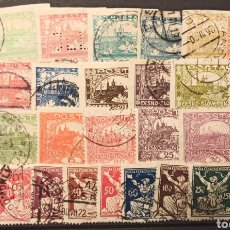 Sellos: SELECCIÓN DE 19 SELLOS DE 1918 A 1920 DE CHECOSLOVAQUIA. Lote 268726149