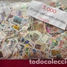 Sellos: 3.000 SELLOS DIFERENTES USADOS DE ESPAÑA. Lote 268815674