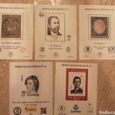 Sellos: LOTE DE 5 HOMENAJES FILATELICOS NUEVOS. Lote 269187286