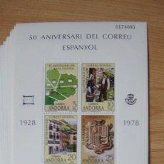 Sellos: ANDORRA ESPAÑOLA 1978 10 HOJITAS EDIFIL 116 NUEVAS PERFECTAS. Lote 269938978
