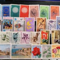 Timbres: TURQUIA LOTE DE SELLOS SERIES NUEVO PERFECTO AÑOS 60S 70S. Lote 270678693