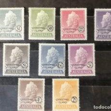 Sellos: CHISTNAS ISLAS SELLOS YVERT 1/10 AÑO 1958 COLECCION EN NUEVO *** MNH 25 € CATALOGO. Lote 270879033