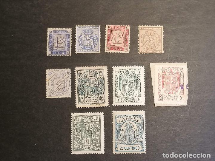 Sellos: España lote sellos recibos y Facturas - Foto 2 - 273662468