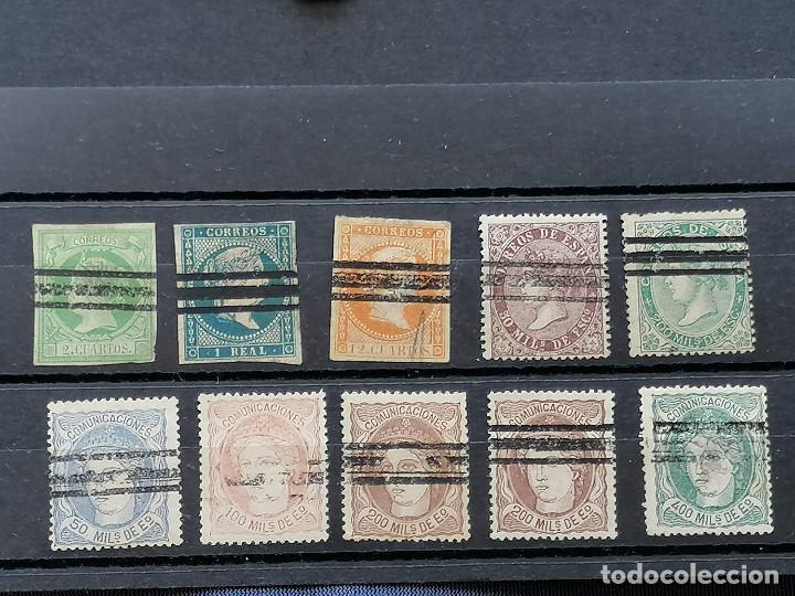 ESPAÑA CLASICOS LOTE SELLOS EDIFIL BARRADOS (Sellos - Colecciones y Lotes de Conjunto)