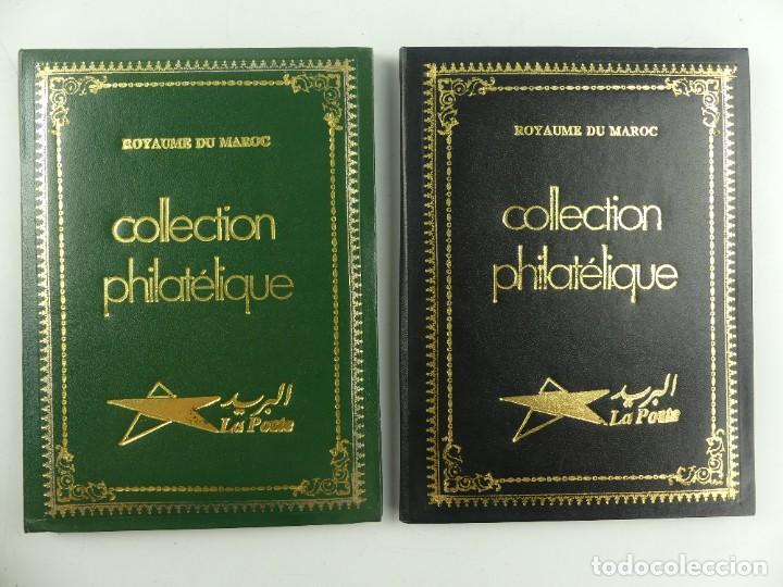 CUADERNOS CON COLECCION DE SELLOS DE MARUECOS (Sellos - Colecciones y Lotes de Conjunto)