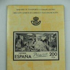 Timbres: CUADERNO CON COLECCION DE SELLOS DE EMISIONES CONMEMORATIVAS 1981. Lote 275333238