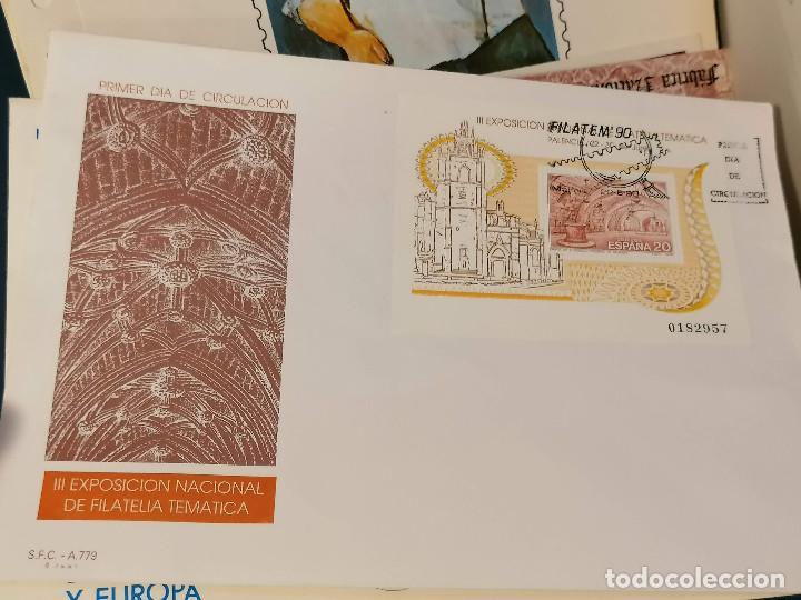 Sellos: España lote sellos caja con documentos filatelicos,spd,sobres exposiciones minimo 200 aprox - Foto 4 - 275496388