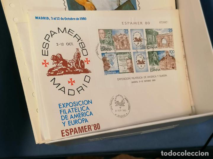 Sellos: España lote sellos caja con documentos filatelicos,spd,sobres exposiciones minimo 200 aprox - Foto 6 - 275496388