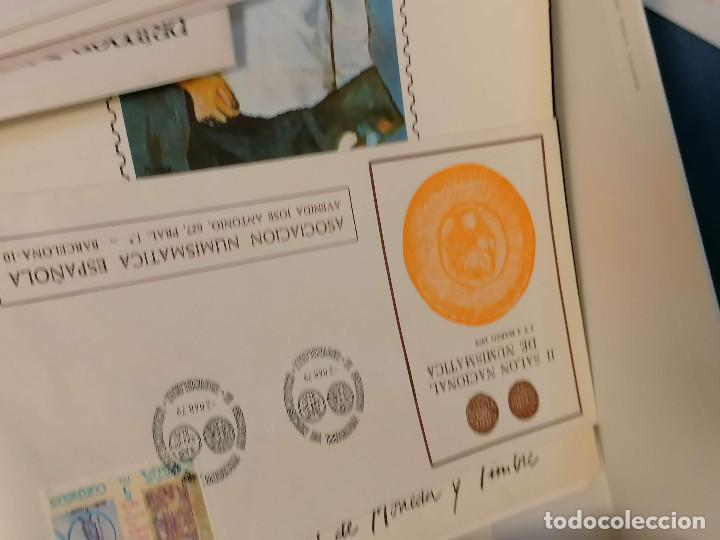 Sellos: España lote sellos caja con documentos filatelicos,spd,sobres exposiciones minimo 200 aprox - Foto 7 - 275496388