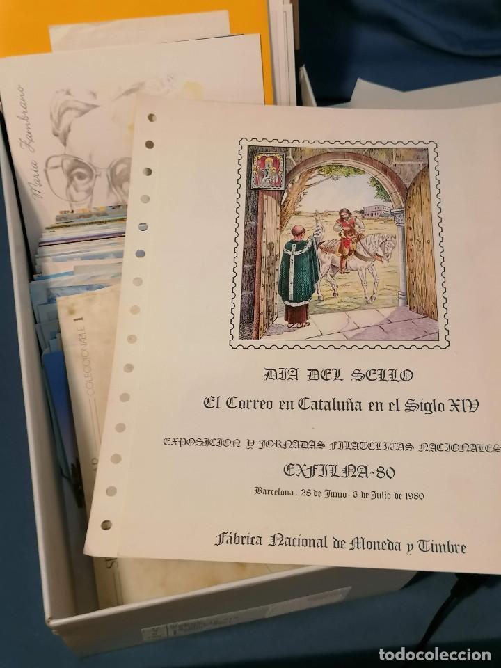 Sellos: España lote sellos caja con documentos filatelicos,spd,sobres exposiciones minimo 200 aprox - Foto 12 - 275496388