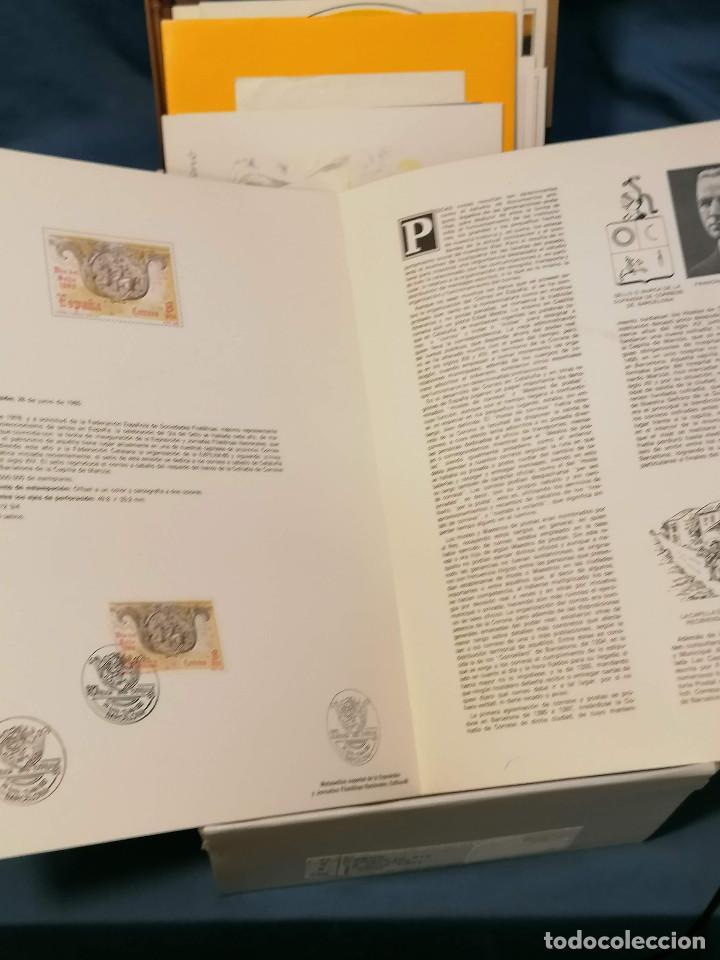 Sellos: España lote sellos caja con documentos filatelicos,spd,sobres exposiciones minimo 200 aprox - Foto 13 - 275496388