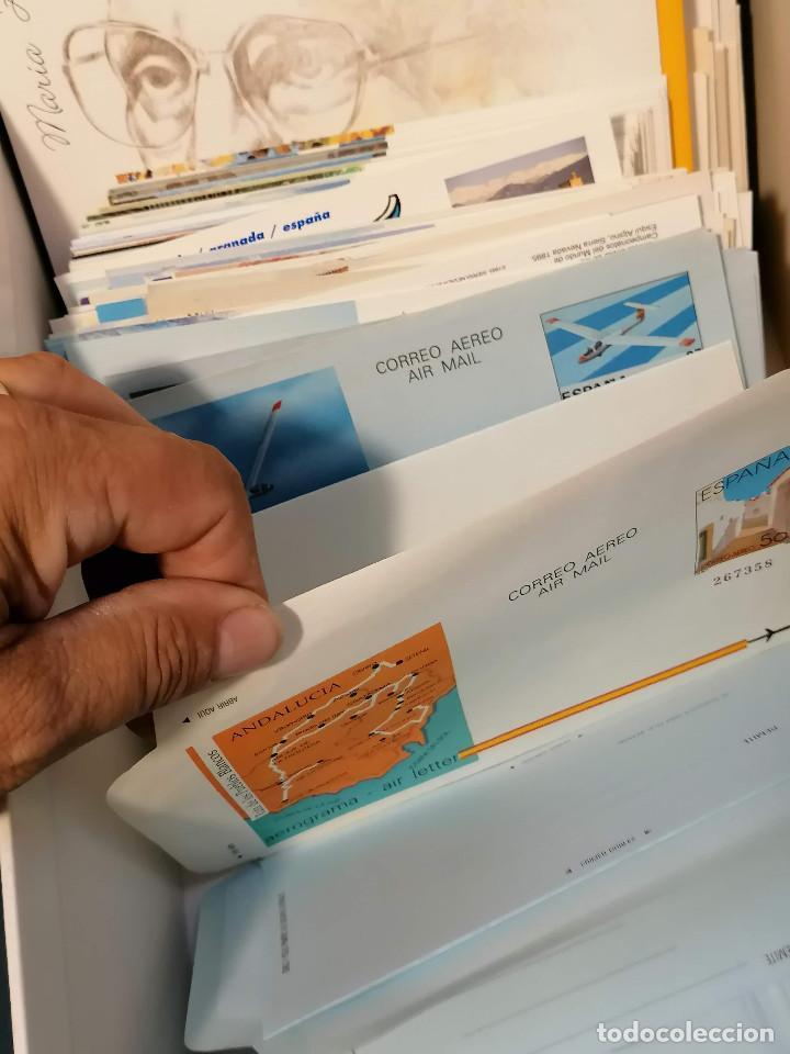 Sellos: España lote sellos caja con documentos filatelicos,spd,sobres exposiciones minimo 200 aprox - Foto 19 - 275496388