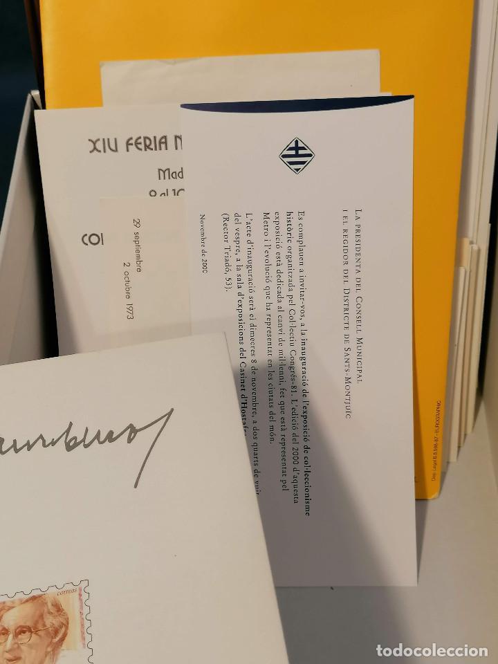 Sellos: España lote sellos caja con documentos filatelicos,spd,sobres exposiciones minimo 200 aprox - Foto 36 - 275496388