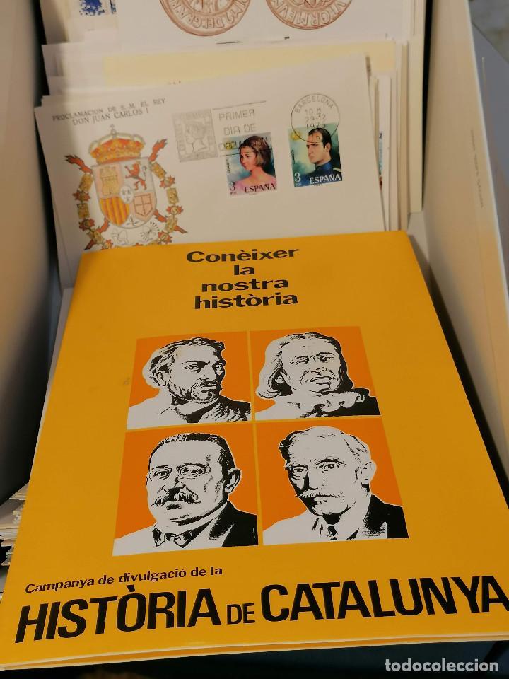 Sellos: España lote sellos caja con documentos filatelicos,spd,sobres exposiciones minimo 200 aprox - Foto 40 - 275496388