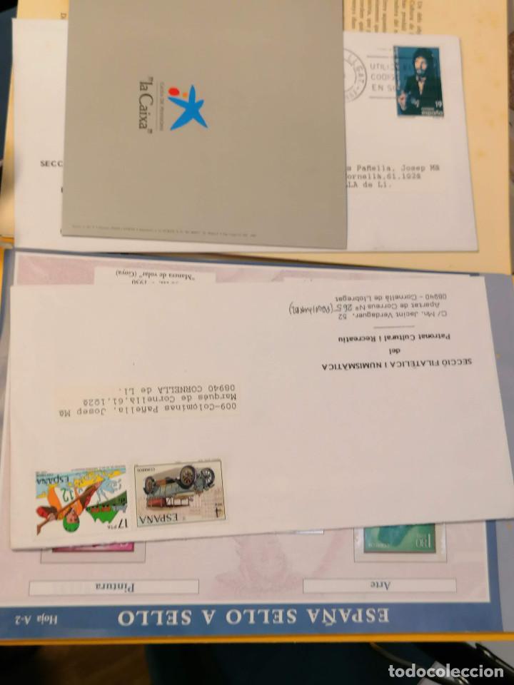 Sellos: España lote sellos caja con documentos filatelicos,spd,sobres exposiciones minimo 200 aprox - Foto 42 - 275496388